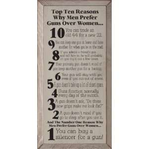 Top Ten Reasons Why Men Prefer Guns Over Women. Wooden