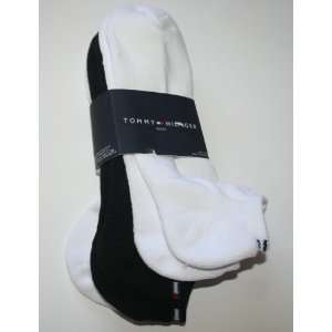 Tommy Hilfiger Mens No Show Socks One Size   White/Black