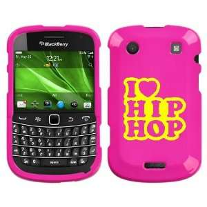 9930 YELLOW I LOVE HIP HOP ON PINK HARD CASE COVER