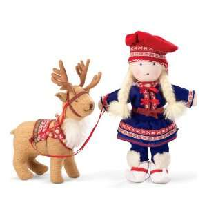Kathe Kruse Thor Personable Reindeer with Soft Plush Fur