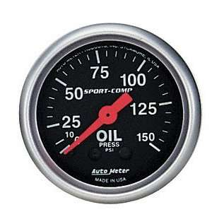 Auto Meter 3423 2 5/8 0 150 PSI Mechanical Oil Pressure