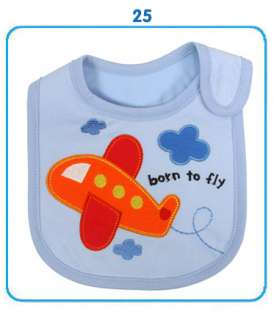 New Baby Infant Toddler Cotton Bibs 3 Layers Waterproof Cute Cartoon