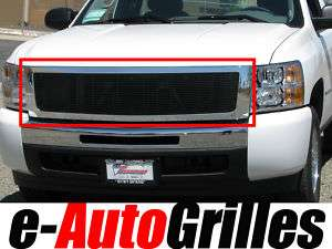 07 11 Chevy Silverado Chrome Black Billet Grille Grill