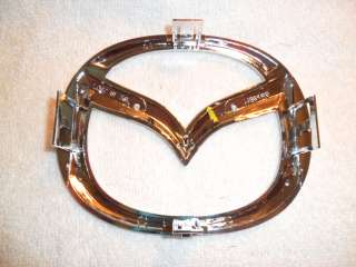 NEW OEM MAZDA M LOGO CHROME FRONT GRILL EMBLEM BADGE 3
