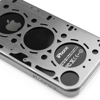 Brushed Aluminum Case for iPhone 4S 4 S FREE SAME DAY SHIPPING SILVER