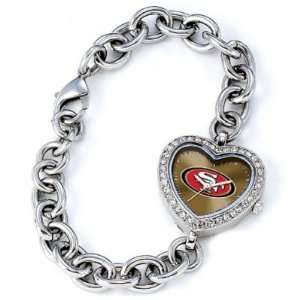 San Francisco 49ers Game Time Heart Series Mens NFL Watch