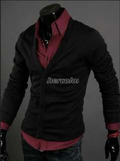 New Fashion Mens Slim Premium Stylish Trapdoor Knit Coat Cardigan