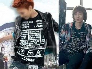 Big Bang Shinee Teen Top 2ne1 G Dragon Kpop Care Label Tee
