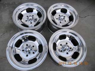 NEWLY POLISHED 14x7 WESTERN SLOT MAG WHEELS CHEVY GASSER MAGS FORD