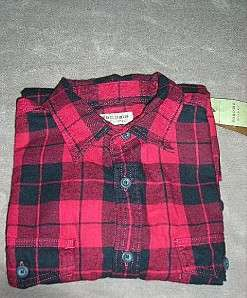 SONOMA life+style Mens Flannel Plaid Shirt~$36~NWT
