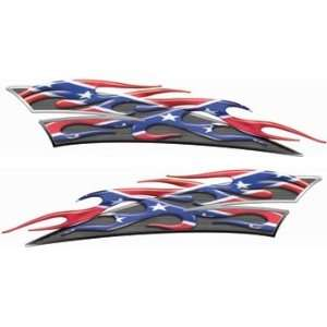 Reflective Rebel / Confederate Flag Motorcycle Gas Tank