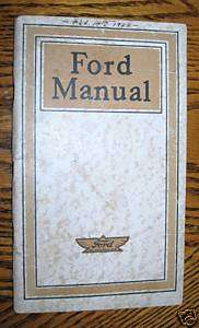 1915 1916 1917 1918 1919 Ford Model T Car & Truck Owners/Operator
