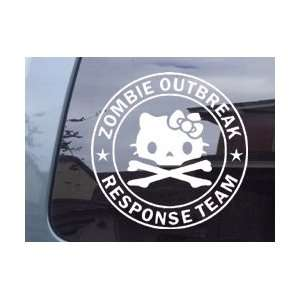 Zombie Outbreak Response Team White Vinyl Decal Sticker Automotive