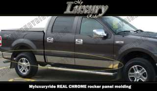 2009 2010 2011 FORD F150 CREW CAB CHROME ROCKER PANELS