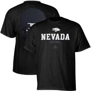 adidas Nevada Wolf Pack College Eyes T Shirt   Black