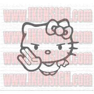 HELLO KITTY SHOCKER CUSTOM by Ikon Vinyl Decal/Sticker 6