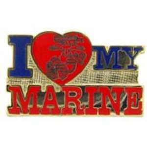 I Love My Marine Pin 1 Arts, Crafts & Sewing