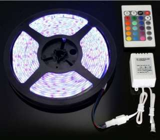 5M RGB 5050 SMD LED Strip + IR Remote + Power Adapter
