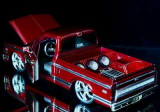 1972 Chevy Cheyenne Pickup DUB CITY Diecast 124 M.Red