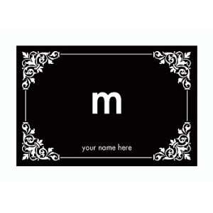 Personalized Stationery Note Cards with Corner Design and