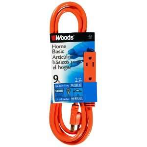 Foot 3 Outlet Extension Cord with Power Tap, Orange