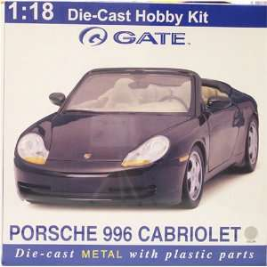 996 Cabriolet 118 Scale Die Cast Hobby Kit   Silver
