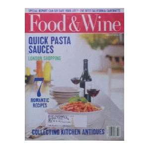 Food & Wine Magazine (Food & Wine, February 1996) Dana Cowin Books