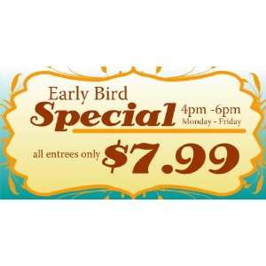 3x6 Vinyl Banner   Weekday Early Bird Special Everything
