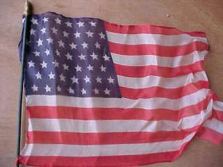 In 1959 there were 49 Stars on the American Flag Thin Silk Rare