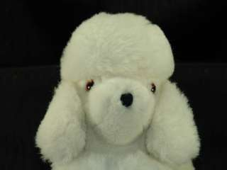 Vintage 12 Kamar Plush White Toy Poodle Puppy Dog Toy