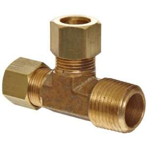 Anderson Metals Brass Tube Fitting, Tee, 1/8 Compression x 1/8 Side