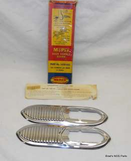 NOS MoPar 1953 Plymouth Dodge Door Handle Guard Pair