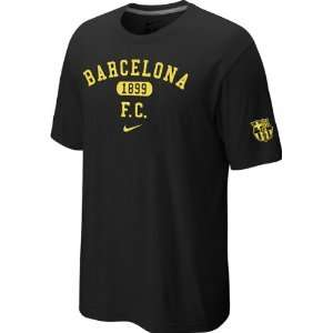 FC Barcelona Youth Black Nike Quickstrike Core Crest T Shirt