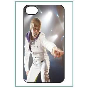 Justin Bieber Pop Star iPhone 4 iPhone4 Black Designer Hard Case Cover