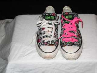 Womens Converse All Star Bright Multi Color Graphics Tennis Sneakers