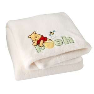 Winnie the Pooh Baby Blanket Embroidered Super Soft Baby