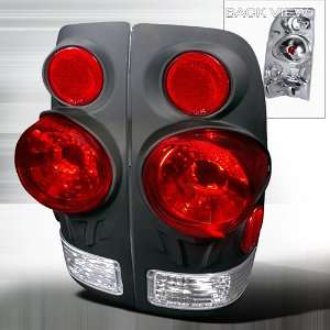 97 03 FORD F150 F250 F350 3D STYLE SIDE BLACK TAIL LIGHTS