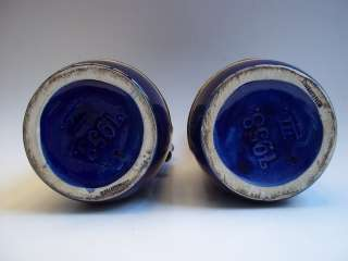 VINTAGE ART DECO, CZECH ART POTTERY VASES PAIR 1930