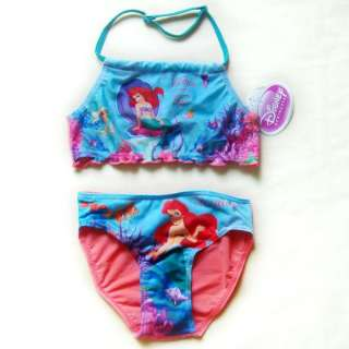 Disney Princess Ariel Mermaid Girls Baby Bikini Swimsuit Swimwear