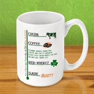 Wedding Favors Irish Personalized Coffee Mug