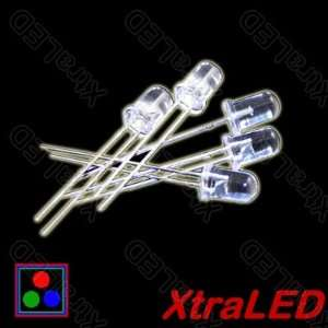 Lot of 50 RGB Flashing LED   Full Color Water Clear 5mm