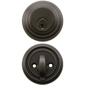 Cylinder Low Profile Deadbolt Oil Rubbed Bronze with 2 3/8 Backset