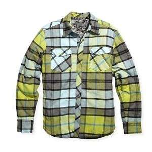 Fox Racing Time Warp Long Sleeve Flannel Shirt   Large