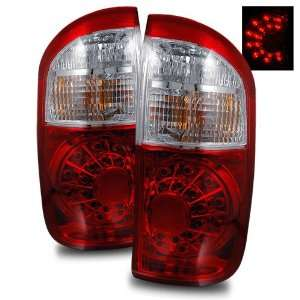 00 06 Toyota Tundra Double Cab Red/Clear LED Tail Lights (Does Not Fit