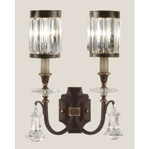 583050ST Eaton Place 2 Light Sconces in Rustic Iron