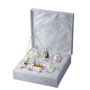 Kurt Adler C4577 Glass Wedding Ornament, 6 Piece Set