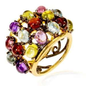 LenYa Special   Glamorous look and feel Holiday Gold Plated Ring with