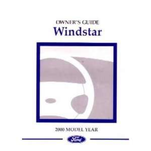 2000 FORD WINDSTAR Owners Manual User Guide Automotive