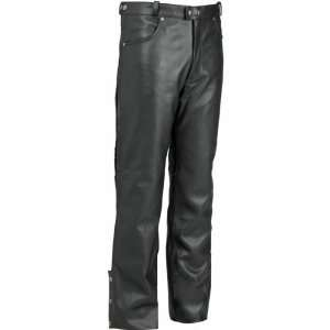 River Road Pueblo Cool Leather Overpants   32/Black