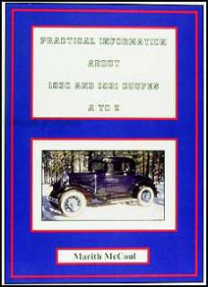 1930 1931 Ford Model A Coupe Parts Restoration ID Guide